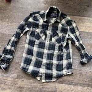 American Eagle plaid button up size XS